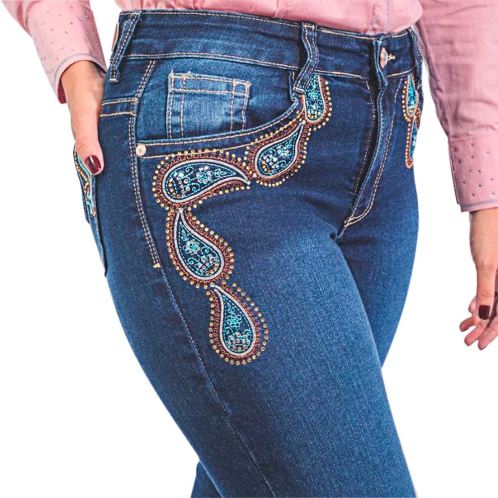 Calça Feminina IV Four Jeans Dallas com Bordado e Strass