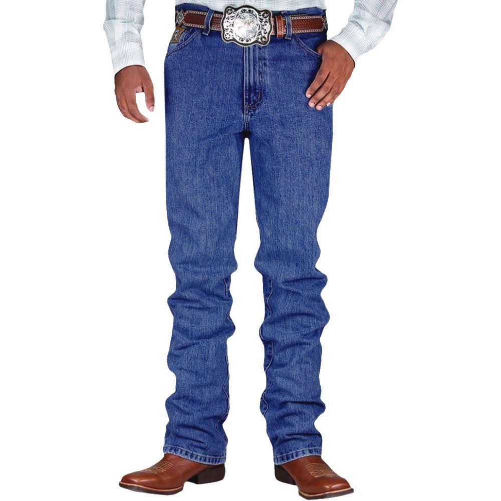 Calça Jeans Cinch Bronze Label Azul Escuro Amaciado