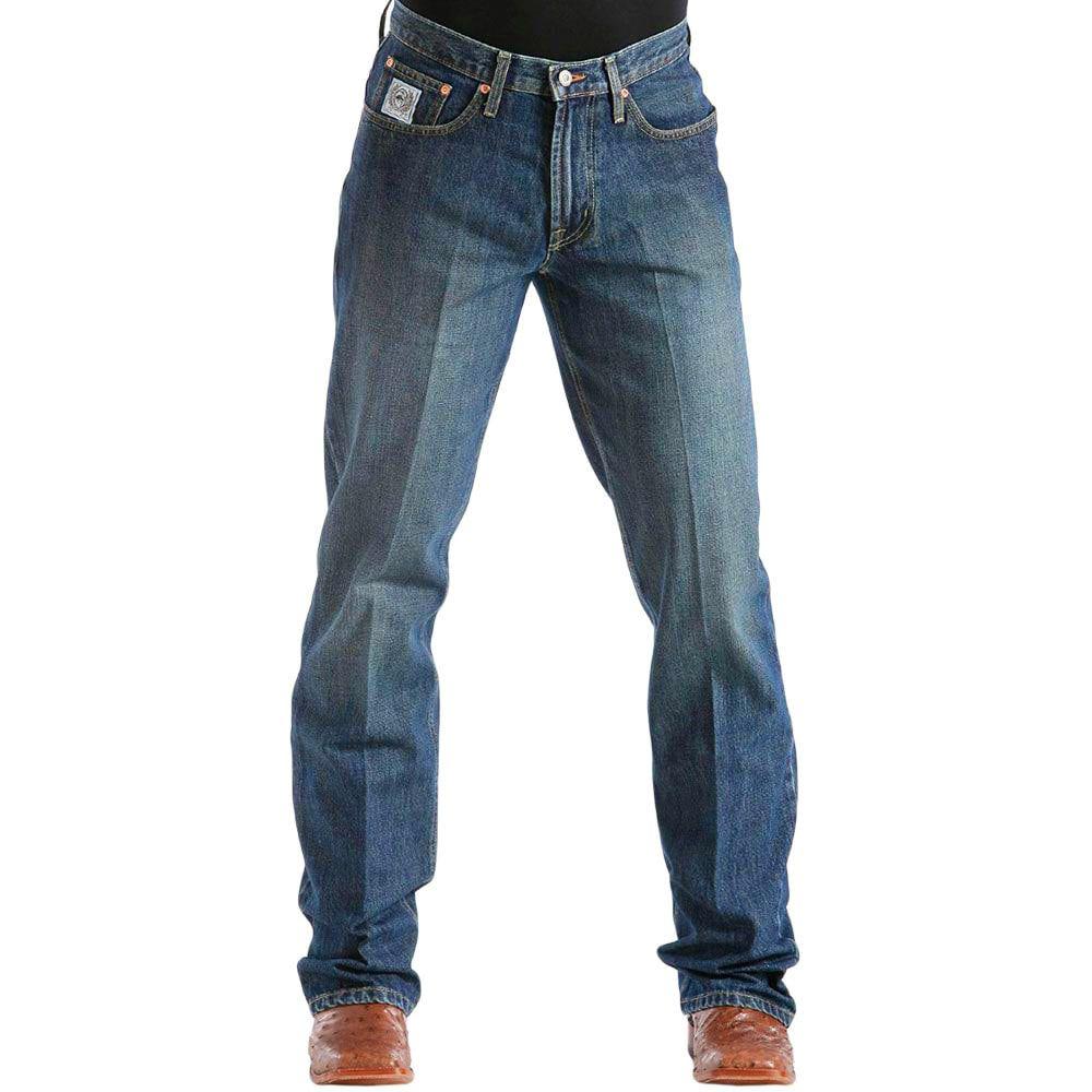 Calça Jeans Cinch White Label Masculina Relaxed Jeans Escuro Stonado