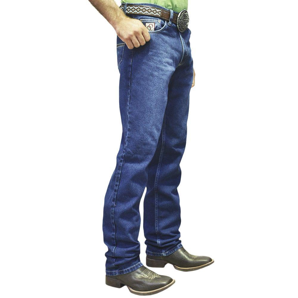 Calça Jeans Cowboys Montana Cintura Média Corte Reto Estonada