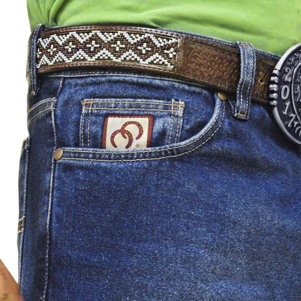Calça Jeans Cowboys Cintura Média Corte Reto