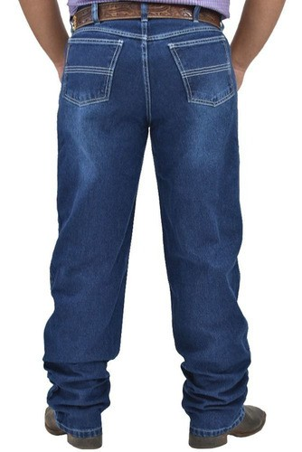 Calça Jeans Cowboys Nevada Cintura Média Corte Relaxed