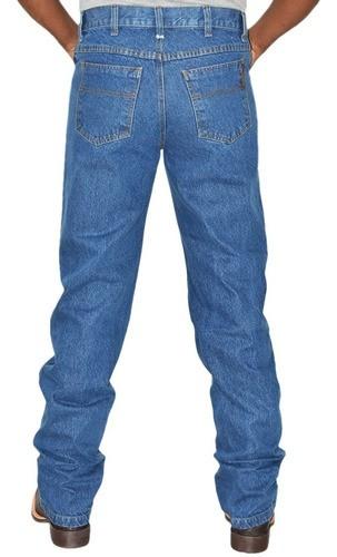 Calça Jeans Cowboys Texas Cintura Média Corte Reto Estonada