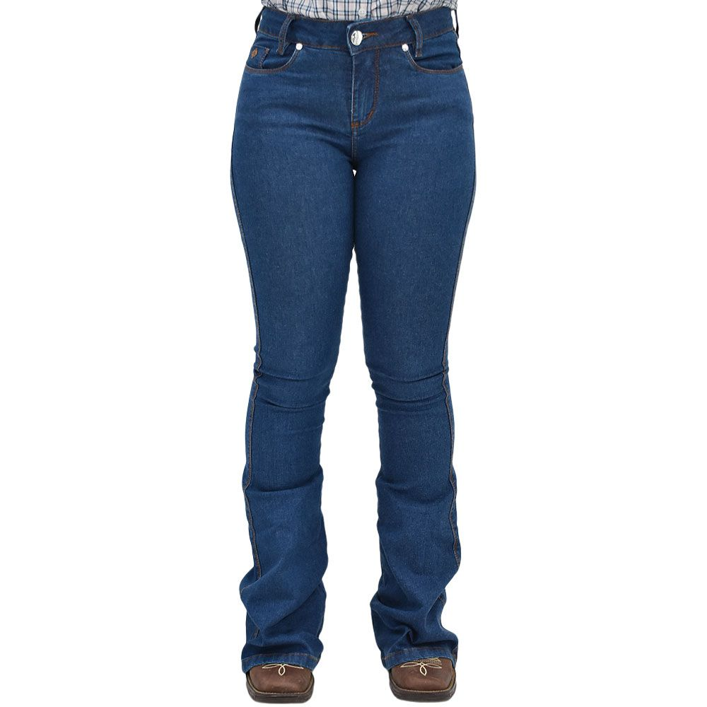 Calça Jeans Feminina Nacional Premium Flare