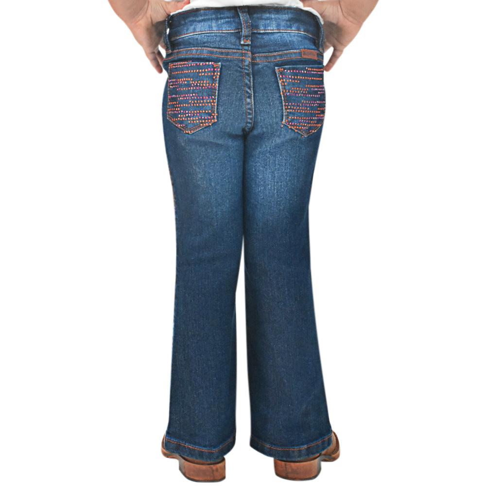Calça Jeans Infantil Feminina Bill Way Flare Com Strass