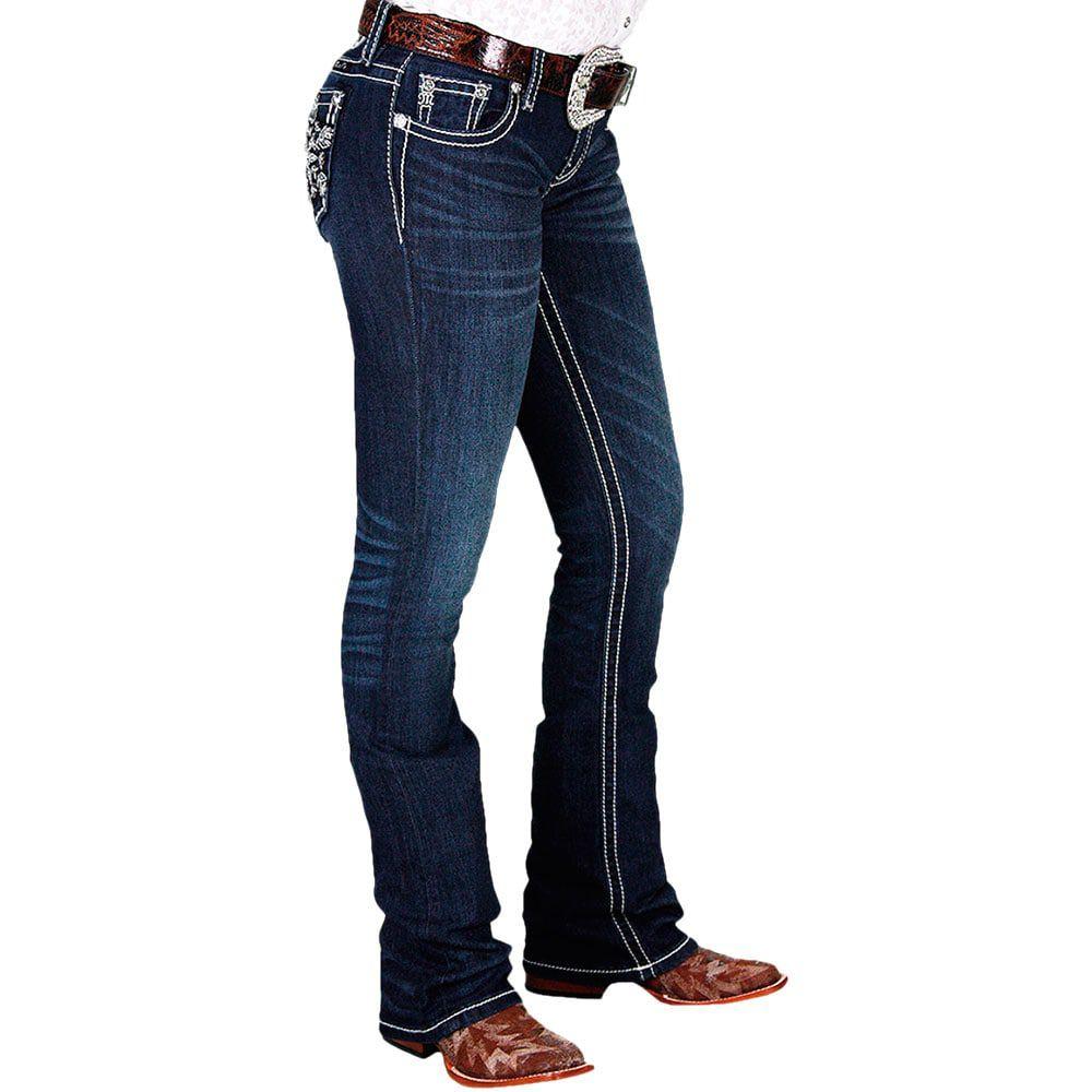 Calça Jeans Feminina Miss Me Azul Flocos de Neve