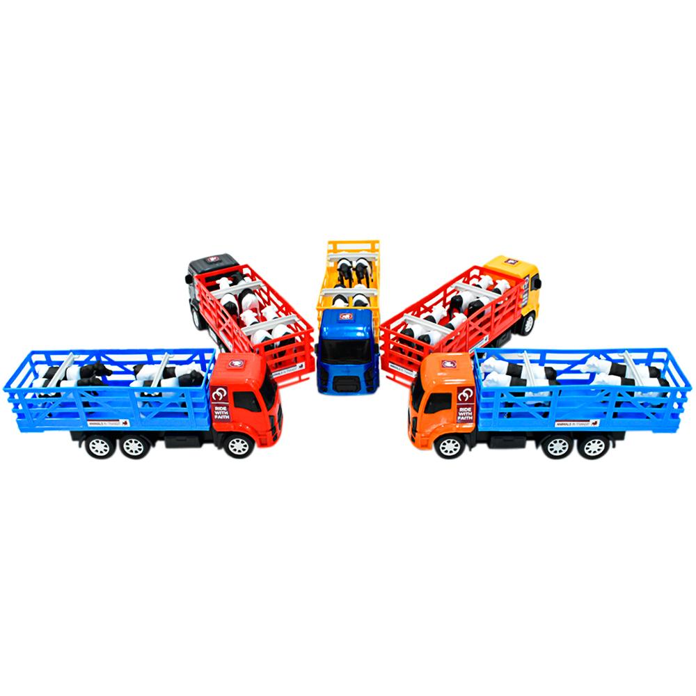 Brinquedo Caminhão Boiadeiro com Boizinhos