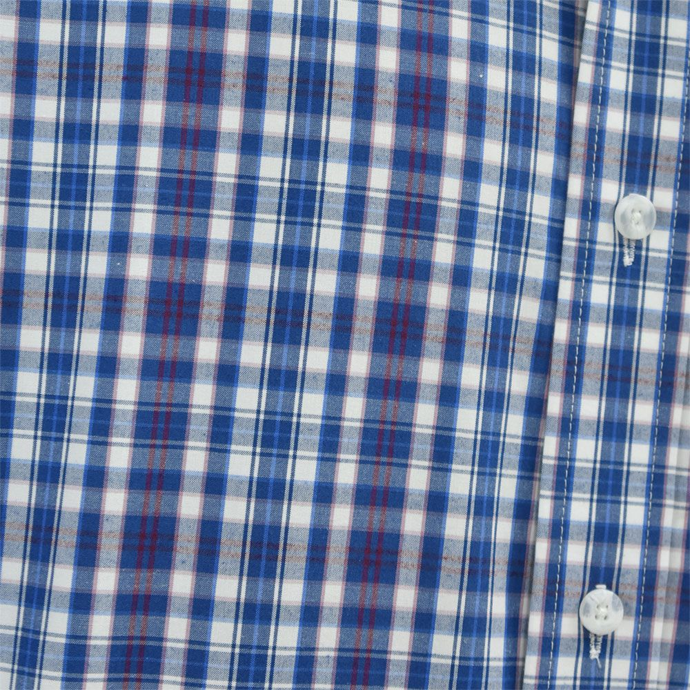Camisa Ariat Manga Longa Xadrez Azul, Branco e Vermelho