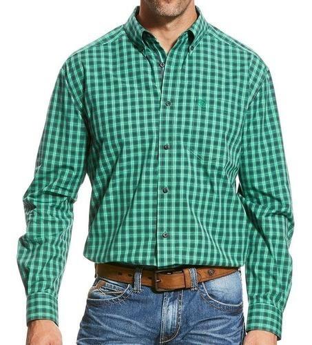 Camisa Ariat Xadrez Verde e Preto