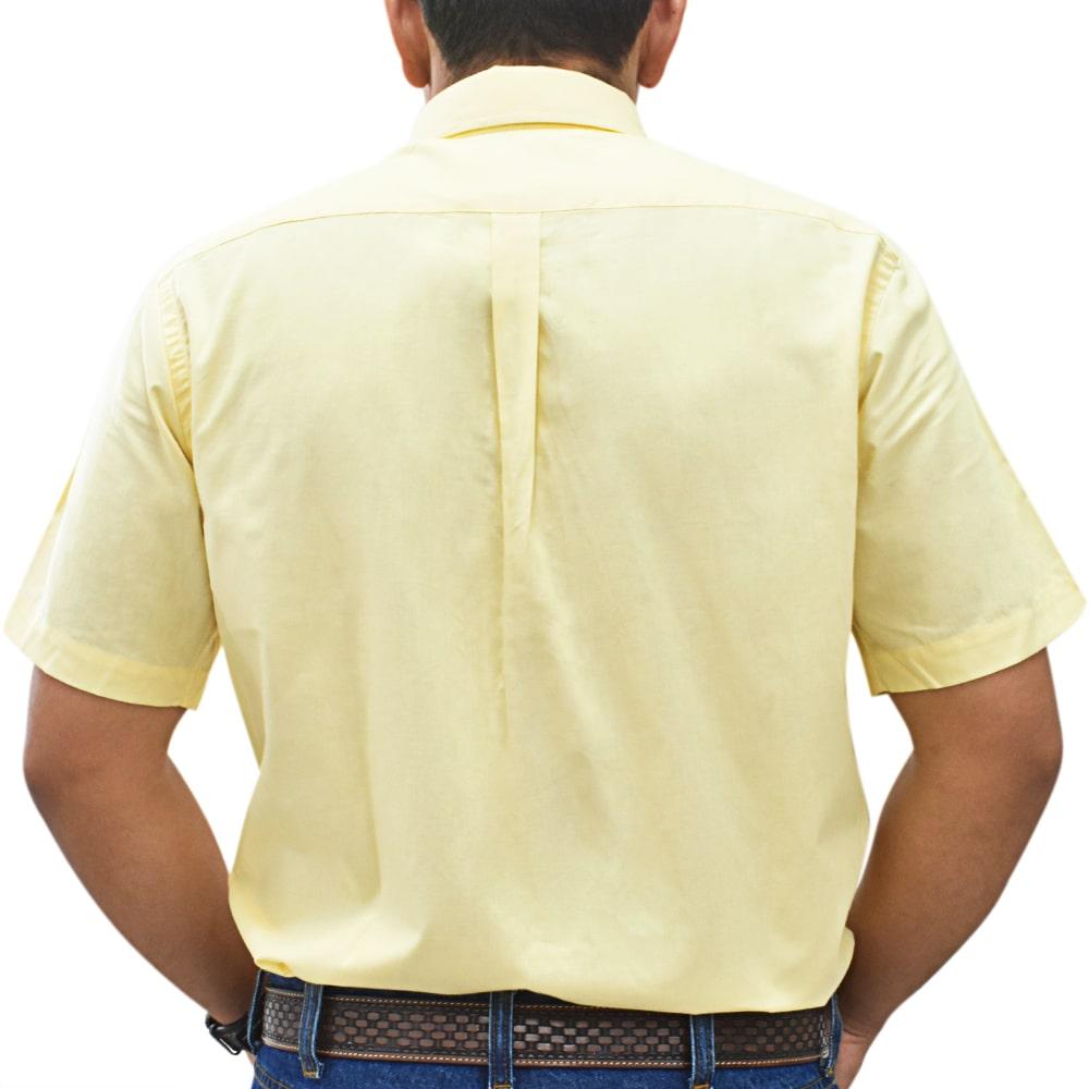 Camisa Cowboys Manga Curta Lisa Amarela