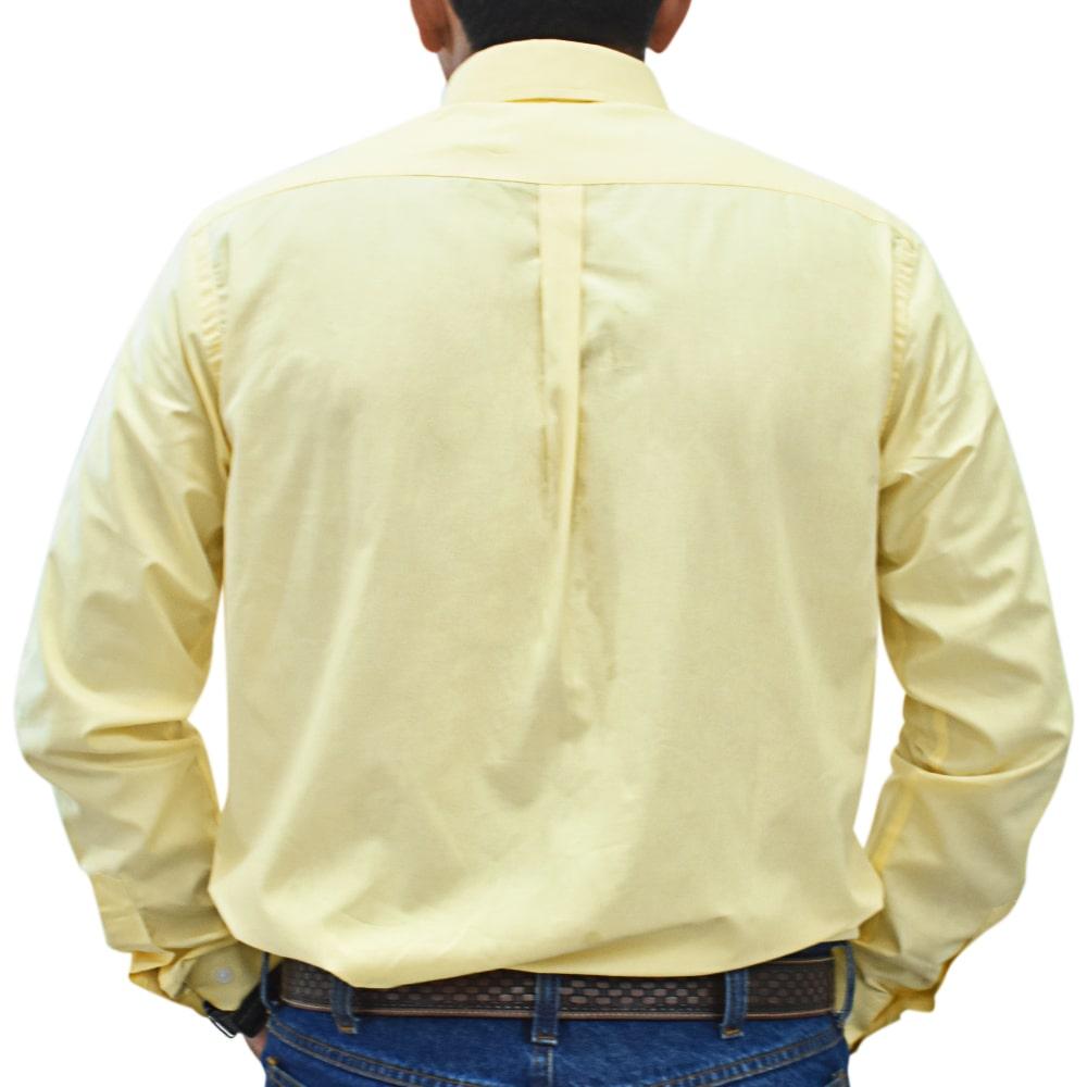 Camisa Cowboys Manga Longa Lisa Amarela