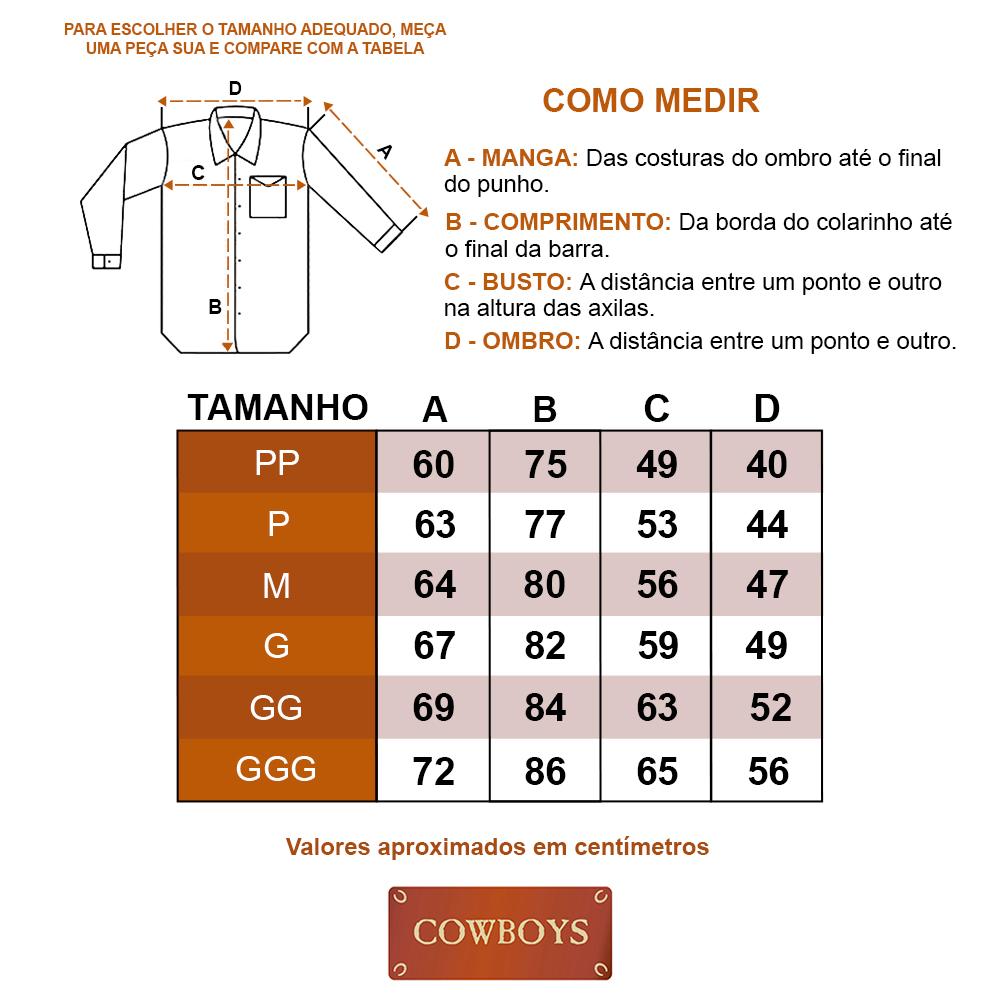 Camisa Cowboys Manga Longa Pai, Mãe e Filho Xadrez Roxo e Preto