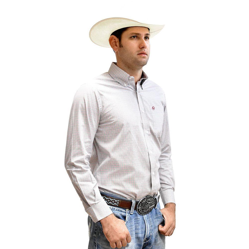 Camisa Cowboys Xadrez Azul e Vermelho