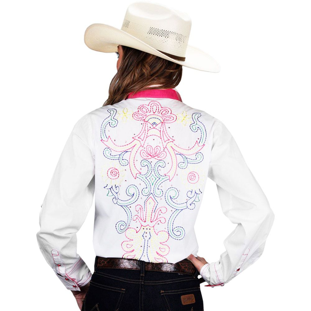 Camisa Feminina Cowgirl Up Bordada com Strass