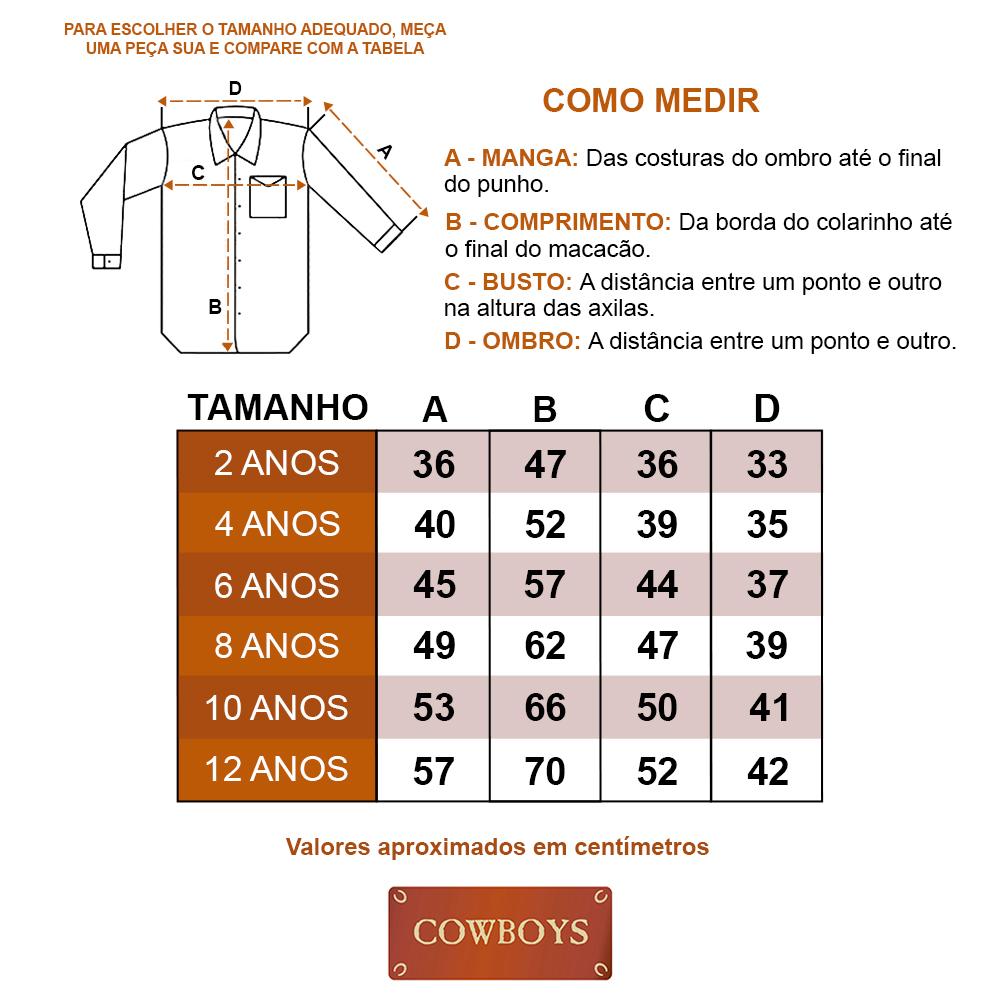 Camisa Infantil Cowboys Manga Longa Pai, Mãe e Filho Xadrez Roxo e Preto