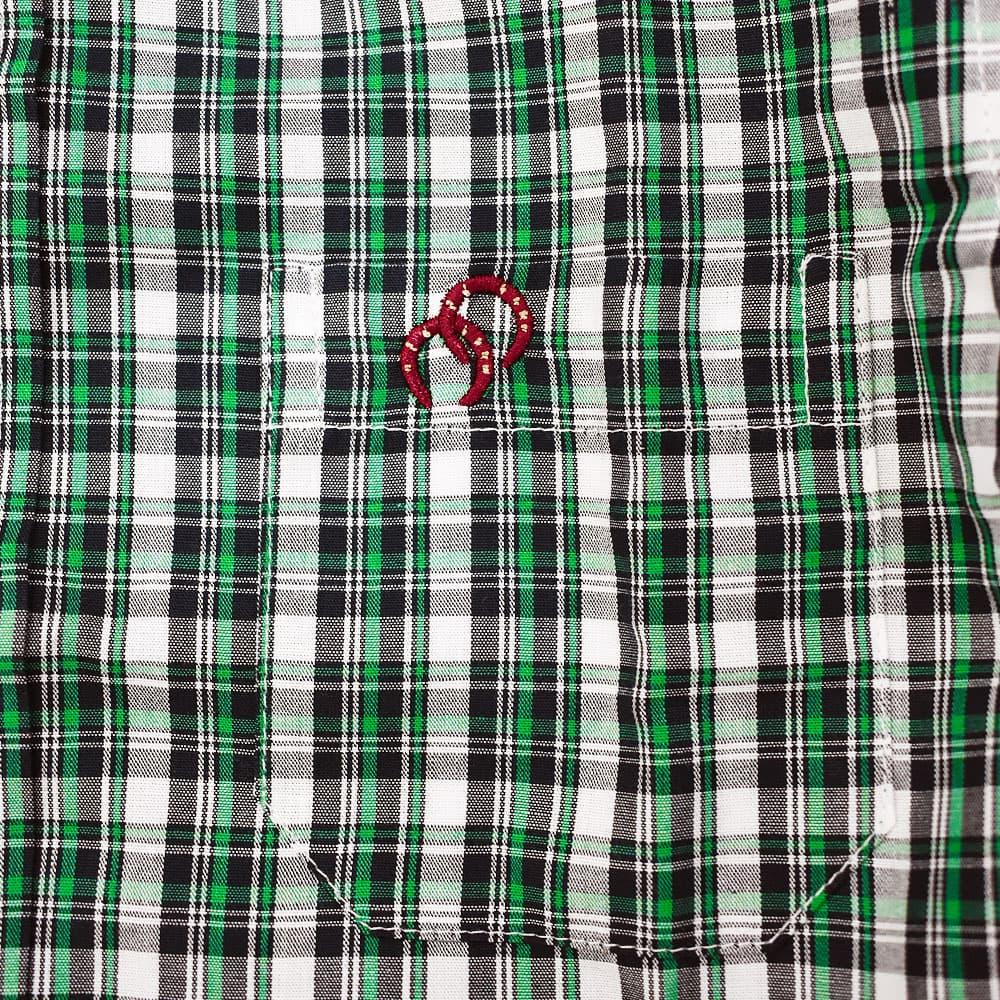 Camisa Infantil Cowboys Xadrez Verde, Branco e Preto