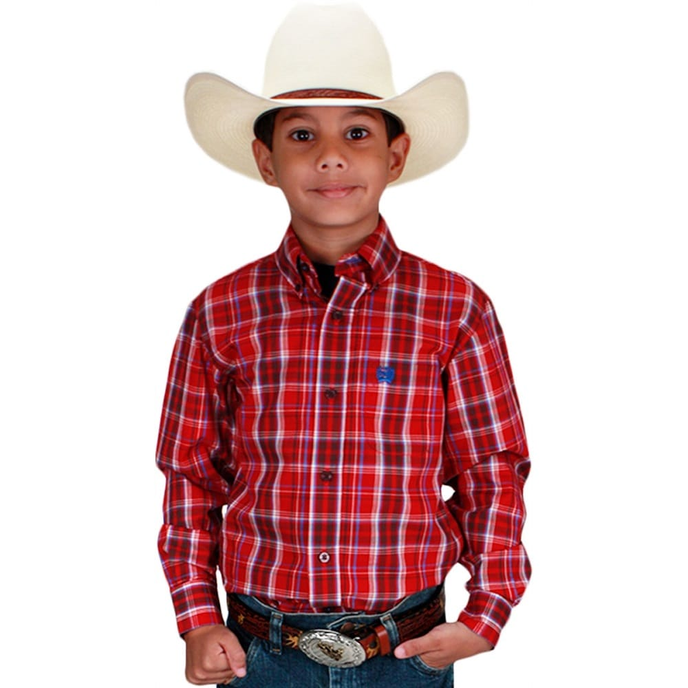 Camisa Infantil Xadrez Cinch
