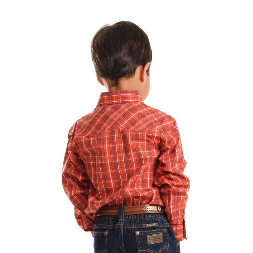 Camisa Infantil Xadrez Manga Longa Cinch