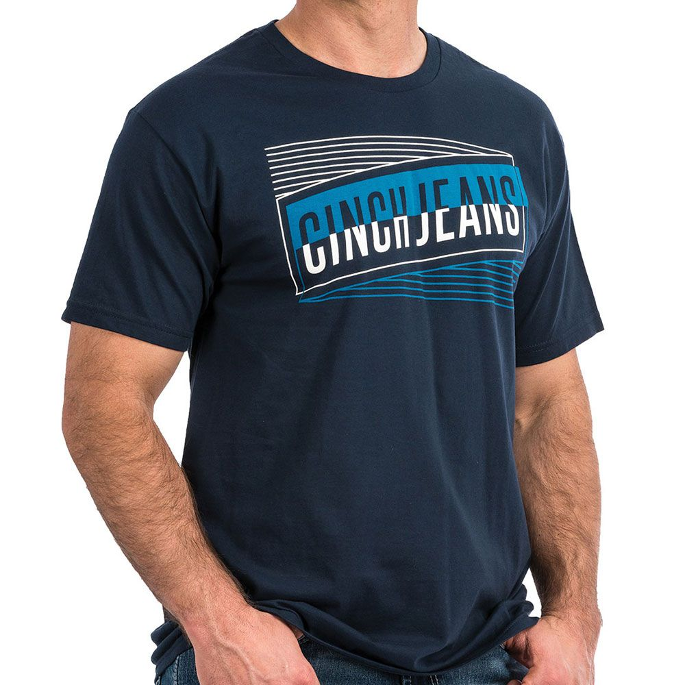 Camiseta Cinch Azul Marinho Cinch Jeans
