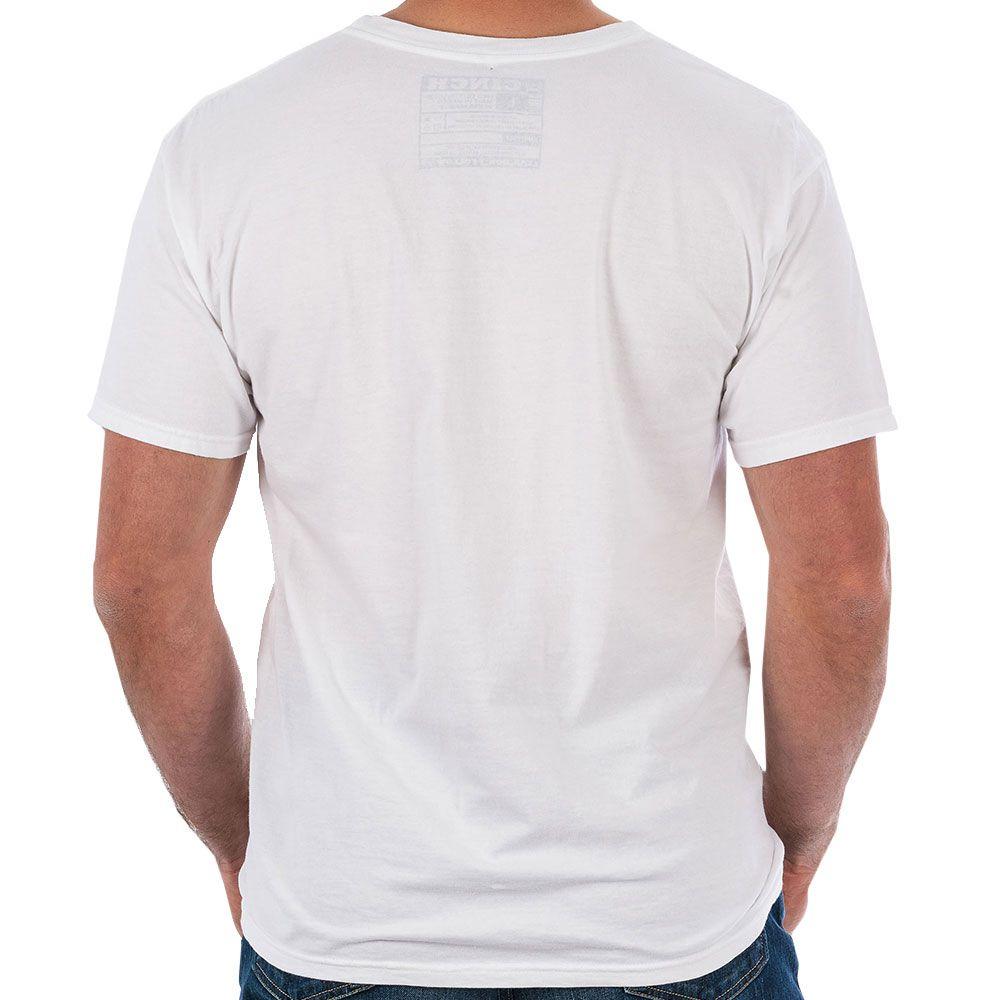Camiseta Cinch Branco Estampa Cinza