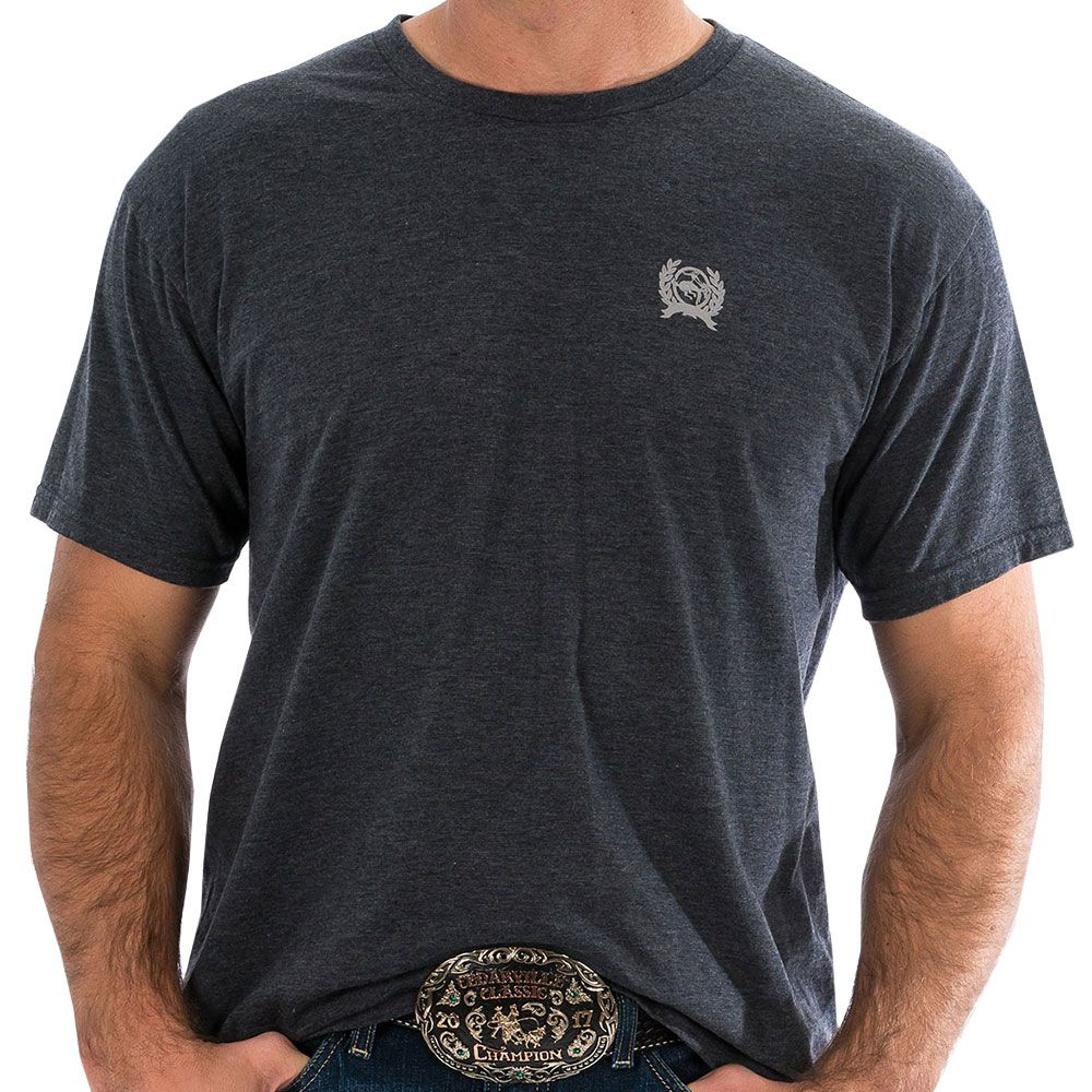 Camiseta Cinch Denim American Classic Cinza Chumbo