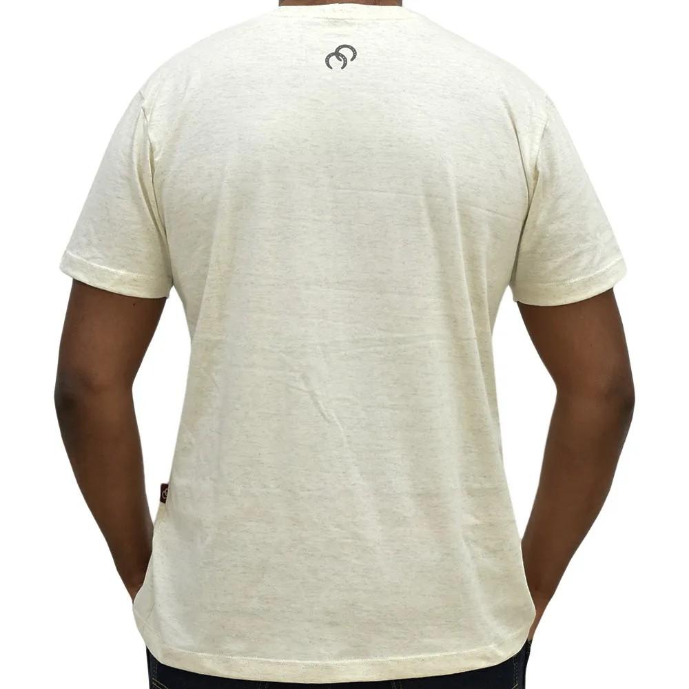 Camiseta Cowboys Bege Mescla Estampa Chumbo