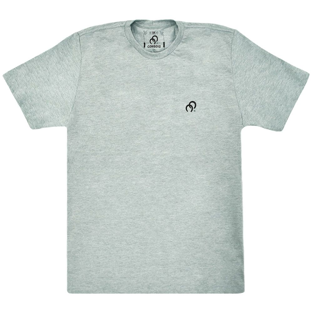 Camiseta Cowboys Cinza Estampa Cavalo
