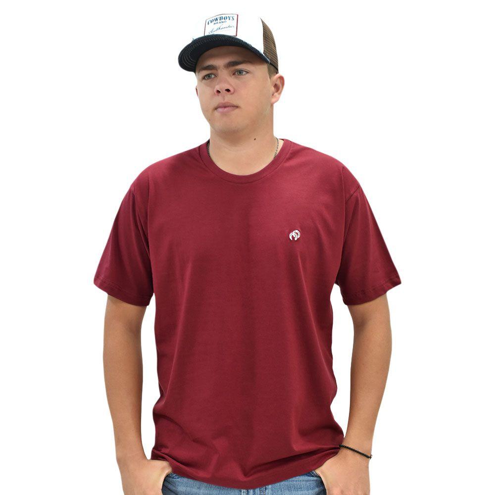 Camiseta Cowboys Gola Careca Lisa Marsala