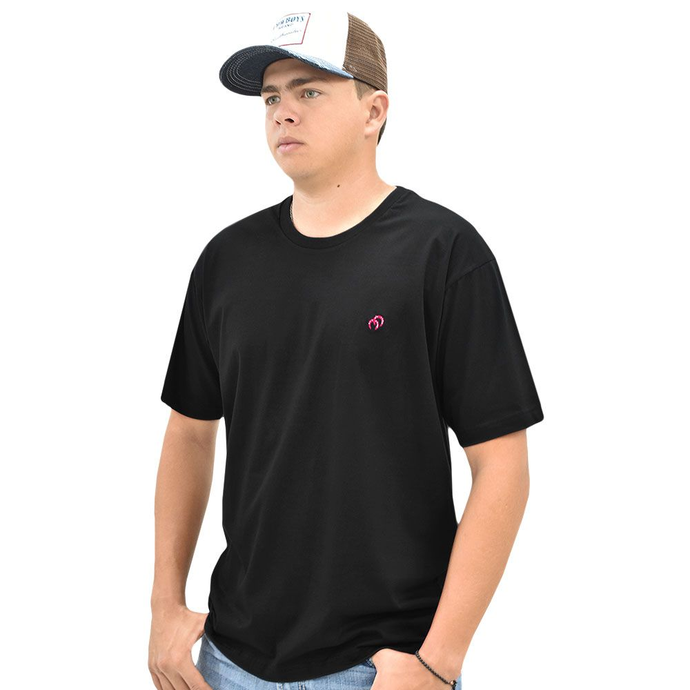 Camiseta Cowboys Gola Careca Lisa Preta