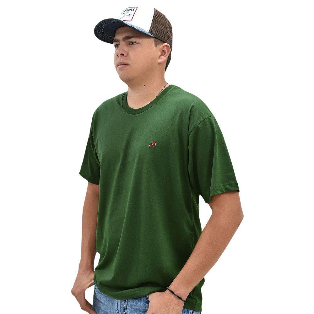 Camiseta Cowboys Gola Careca Lisa Verde