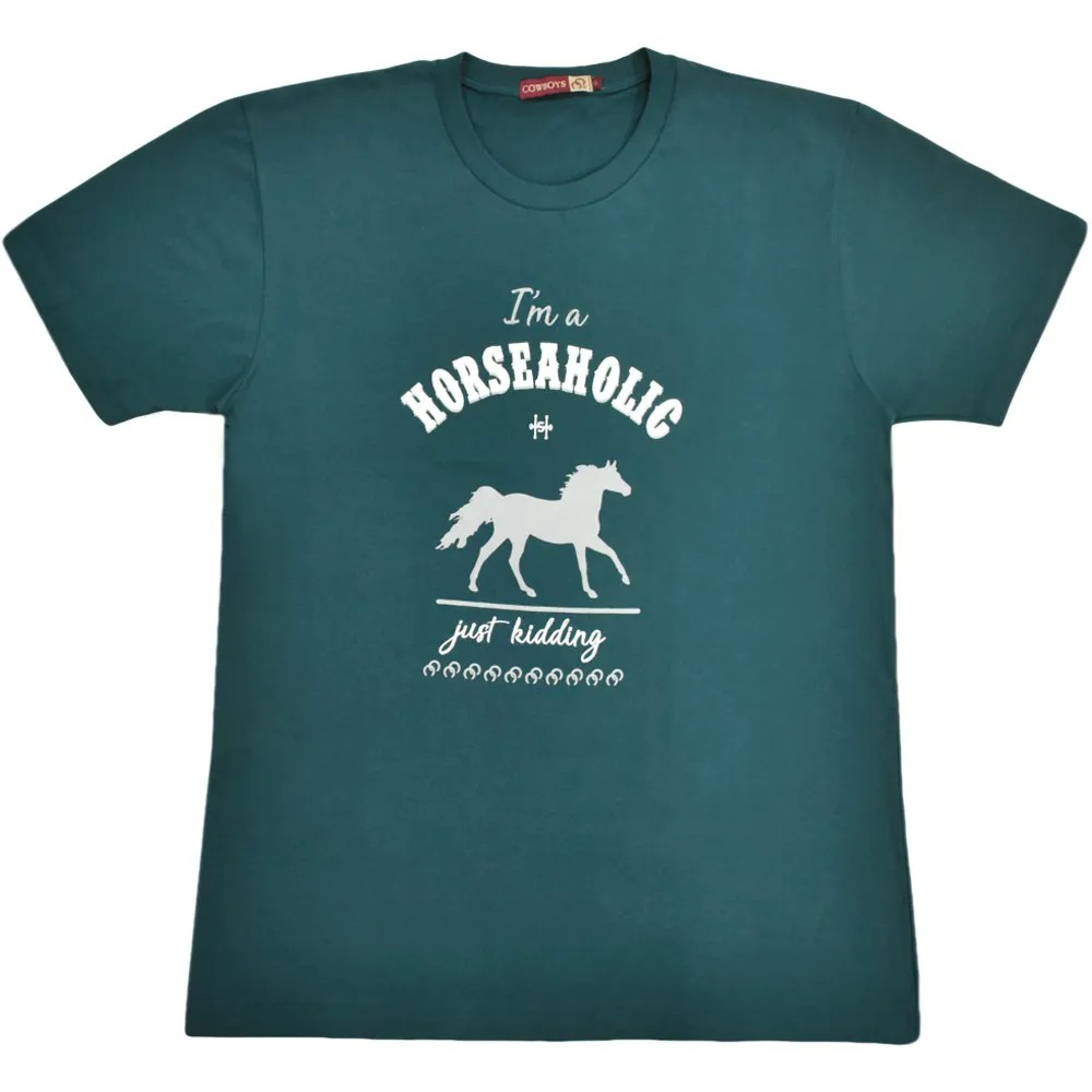 Camiseta Cowboys Horseaholic Azul