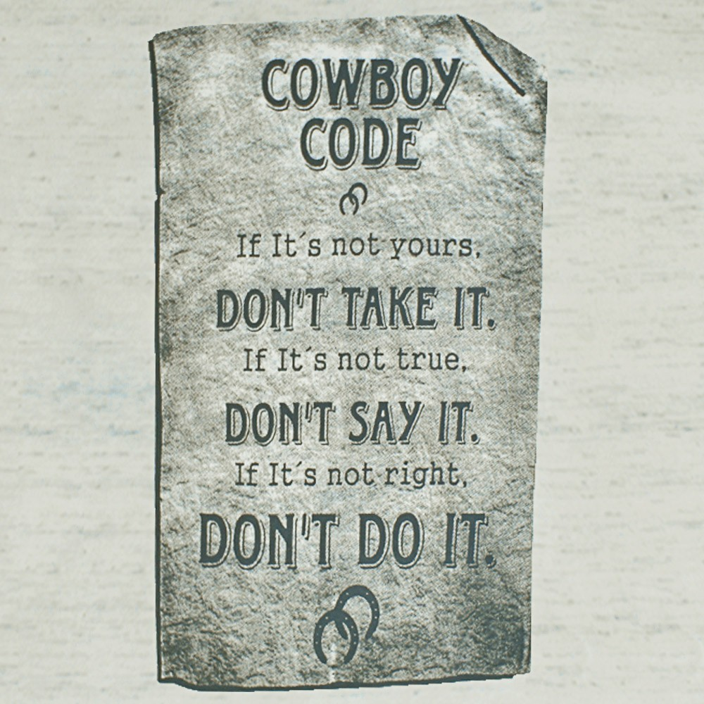 Camiseta Masculina Pai e Filho Cowboys Bege Mescla Código de Cowboy