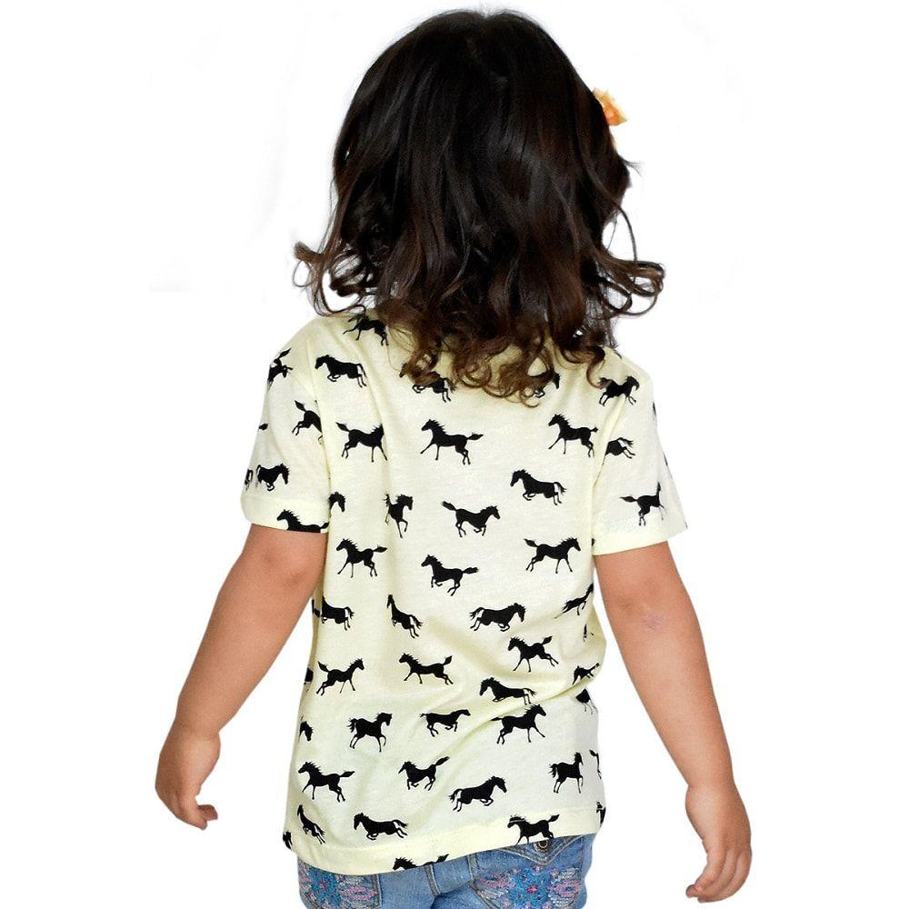 Camiseta Infantil Amarela Black Horse