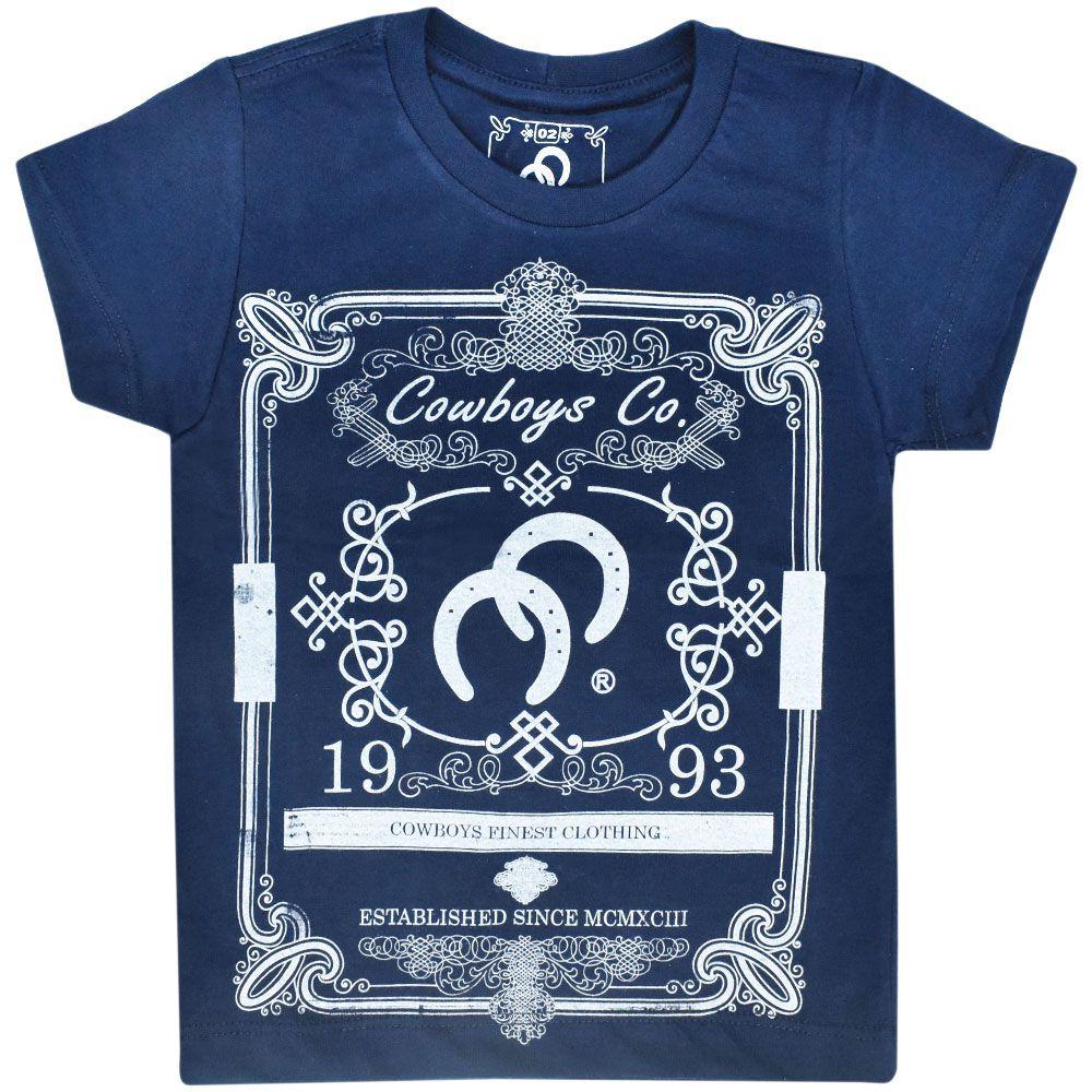 Camiseta Infantil Cowboys Azul Marinho Rótulo 1993