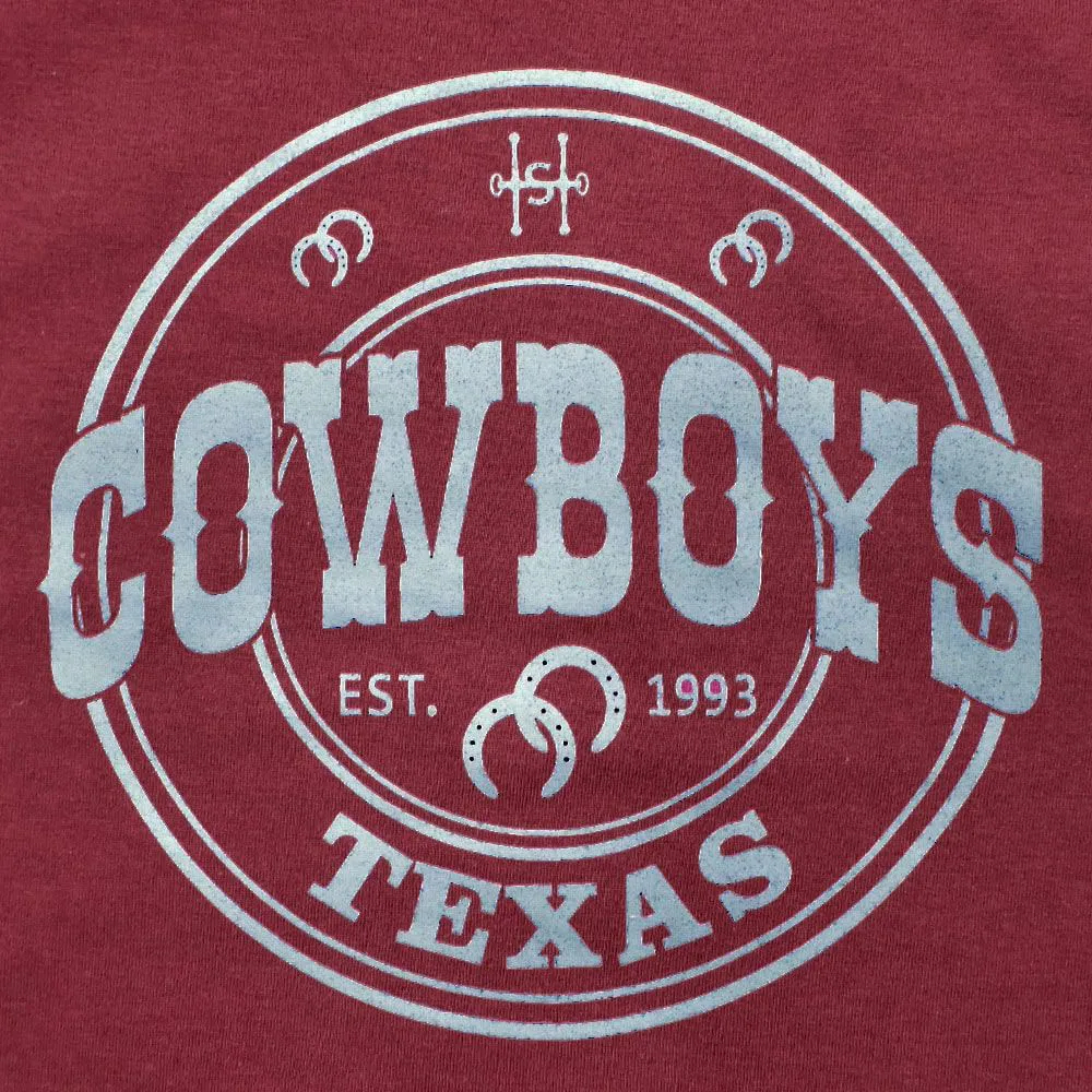 Camiseta Infantil Cowboys Bordô Texas 1993