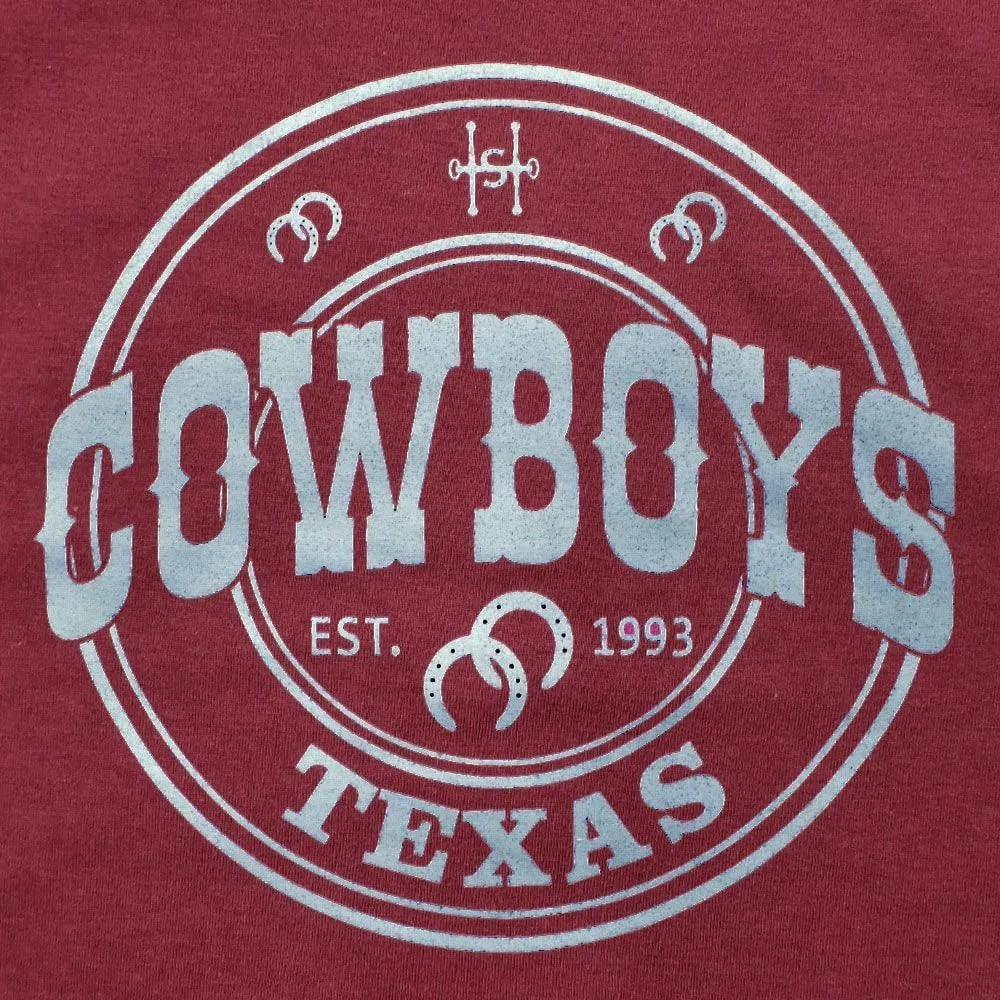 Camiseta Infantil Cowboys Bordô Texas 1993