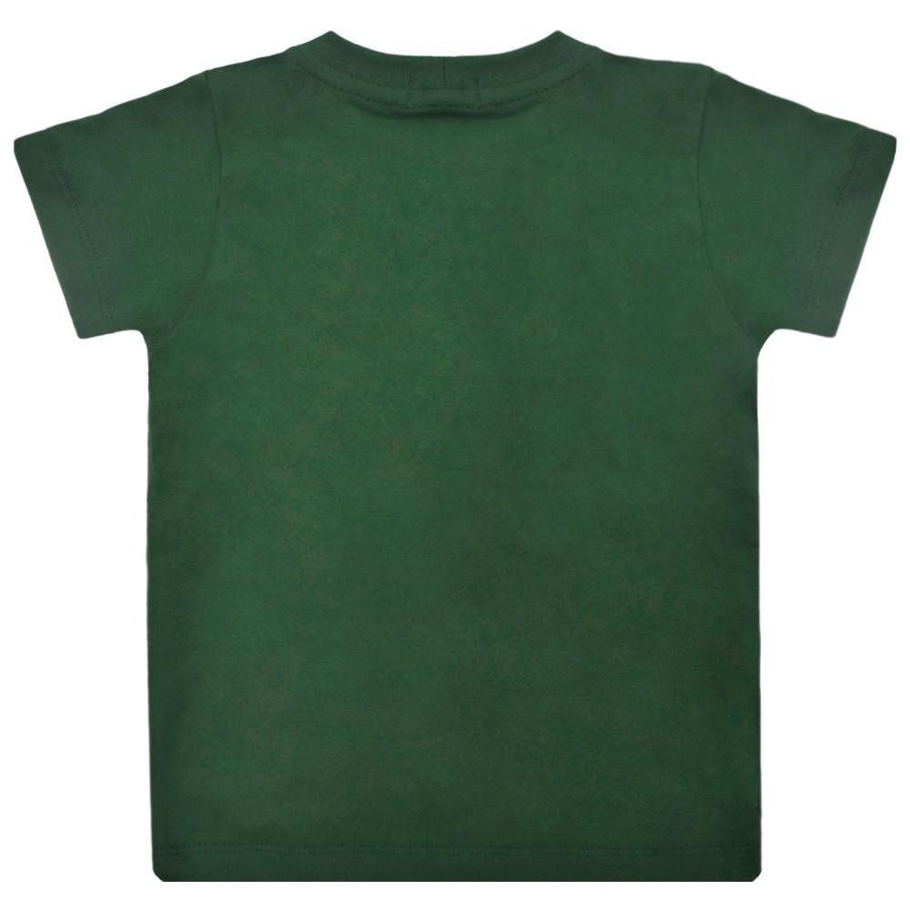 Camiseta Infantil Cowboys Verde Cavalo Branco