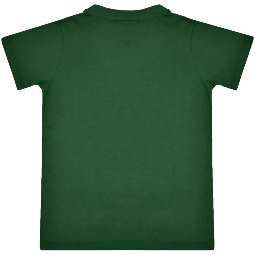 Camiseta Infantil Cowboys Verde Cavalo e Frases