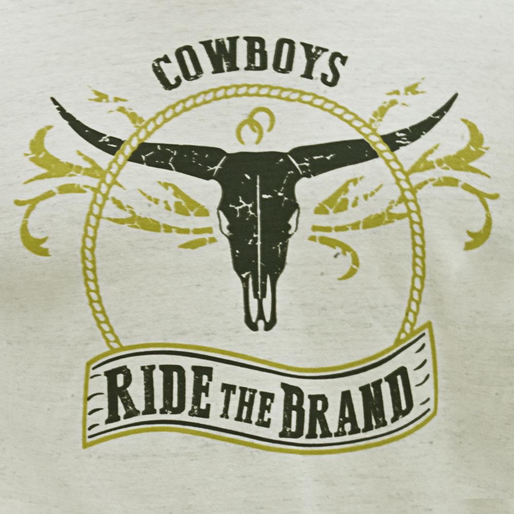 Camiseta Infantil Pai e Filho Bege Mescla Cowboys Ride The Brand