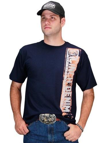 Camiseta Masculina Cinch Country Denim Premium Quality