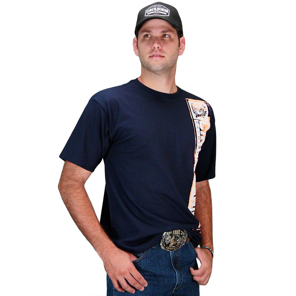 Camiseta Masculina Cinch Country Denim Premium Quality