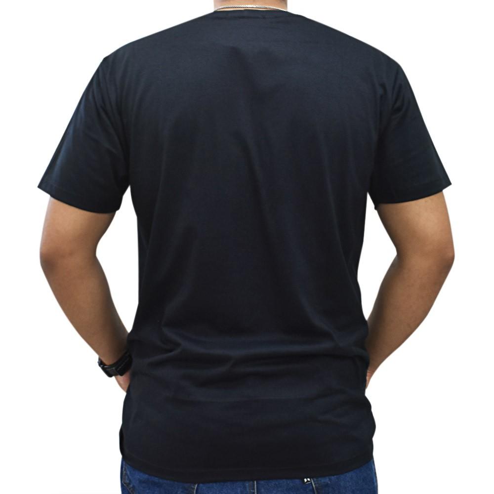 Camiseta Masculina Cowboys Preta Estampa de Ferraduras