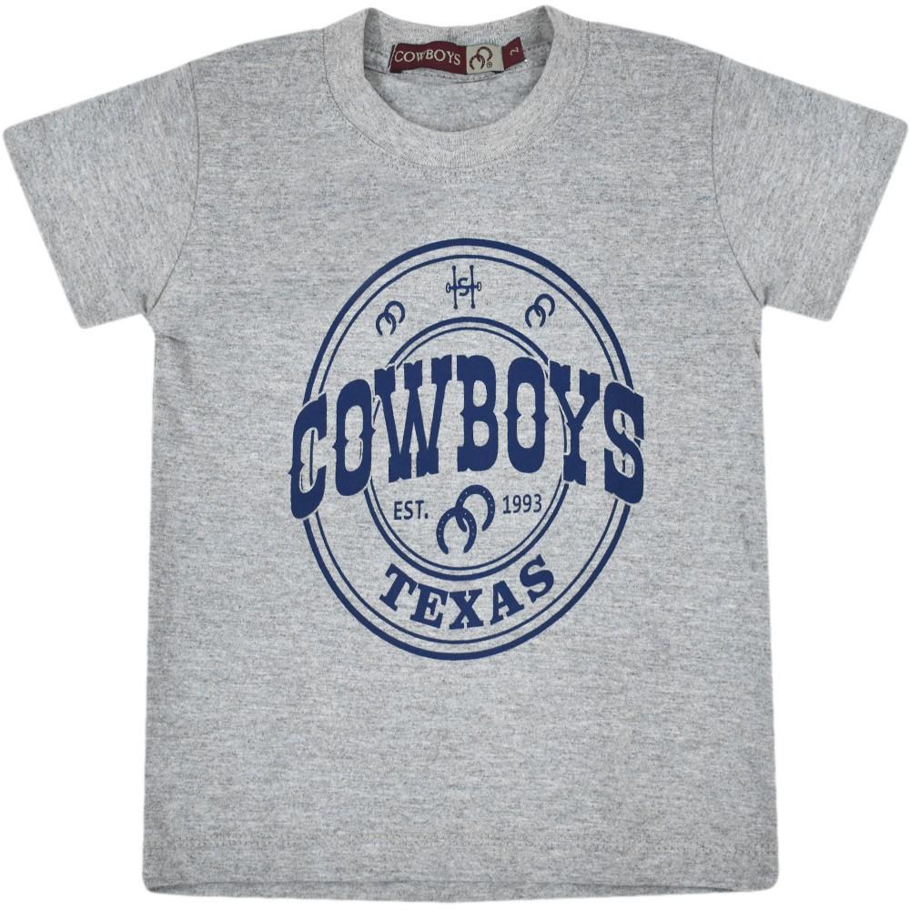 Camiseta Masculina Pai e Filho Cowboys Cinza Texas 1993