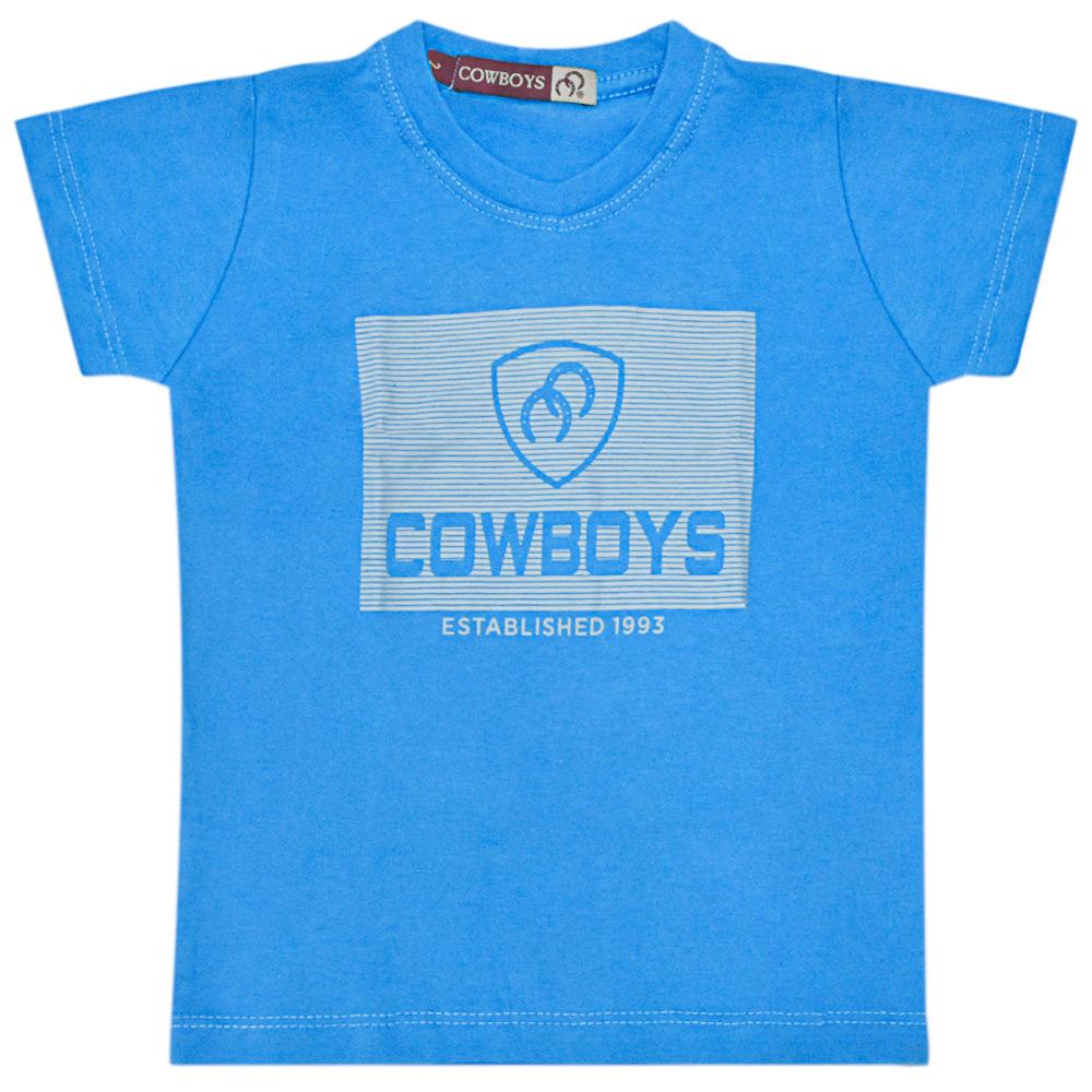 Camiseta Masculina Pai e Filho Cowboys Azul Established 1993