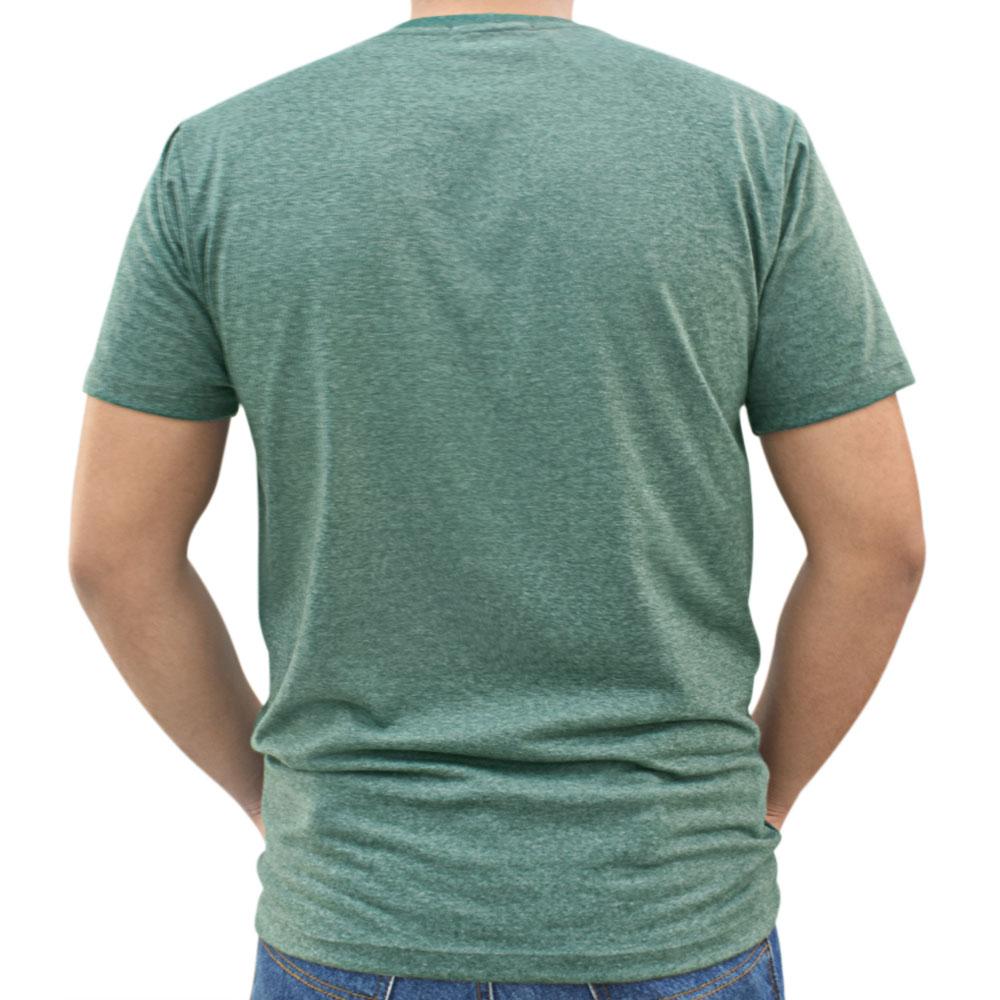 Camiseta Masculina Pai e Filho Cowboys Verde Mescla Bordado Ferraduras