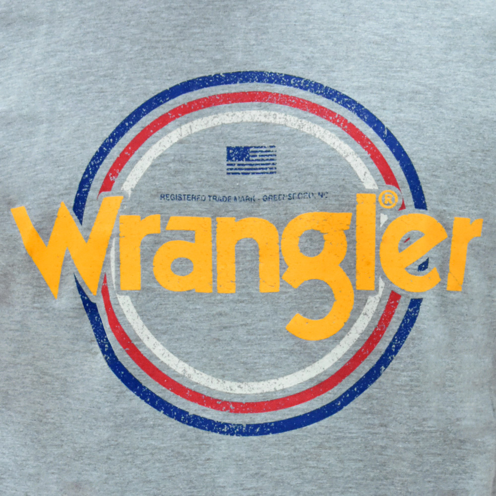 Camiseta Masculina Wrangler Cinza Mescla Registered Trademark