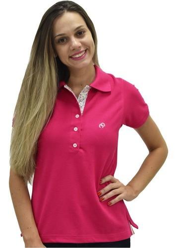 Camiseta Polo Feminina Cowboys Pink