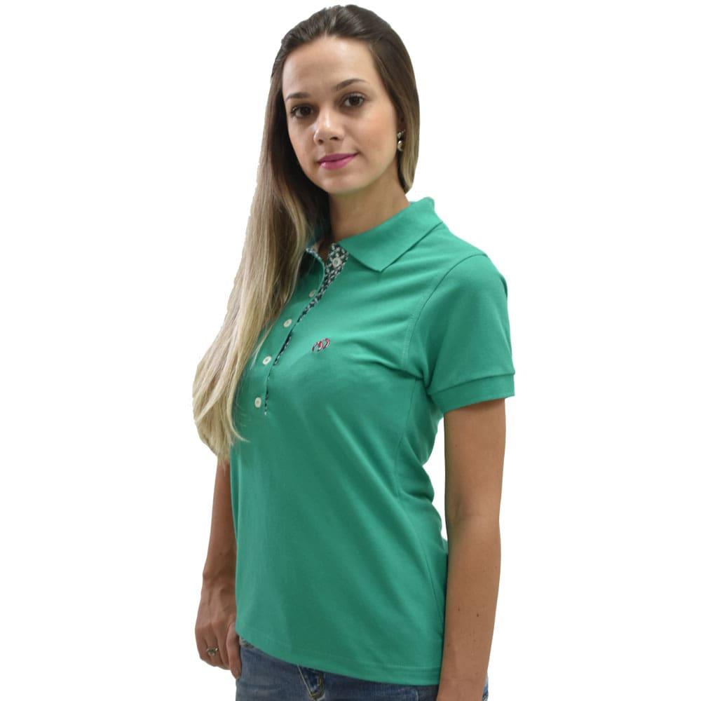 Camiseta Polo Feminina Cowboys Turquesa