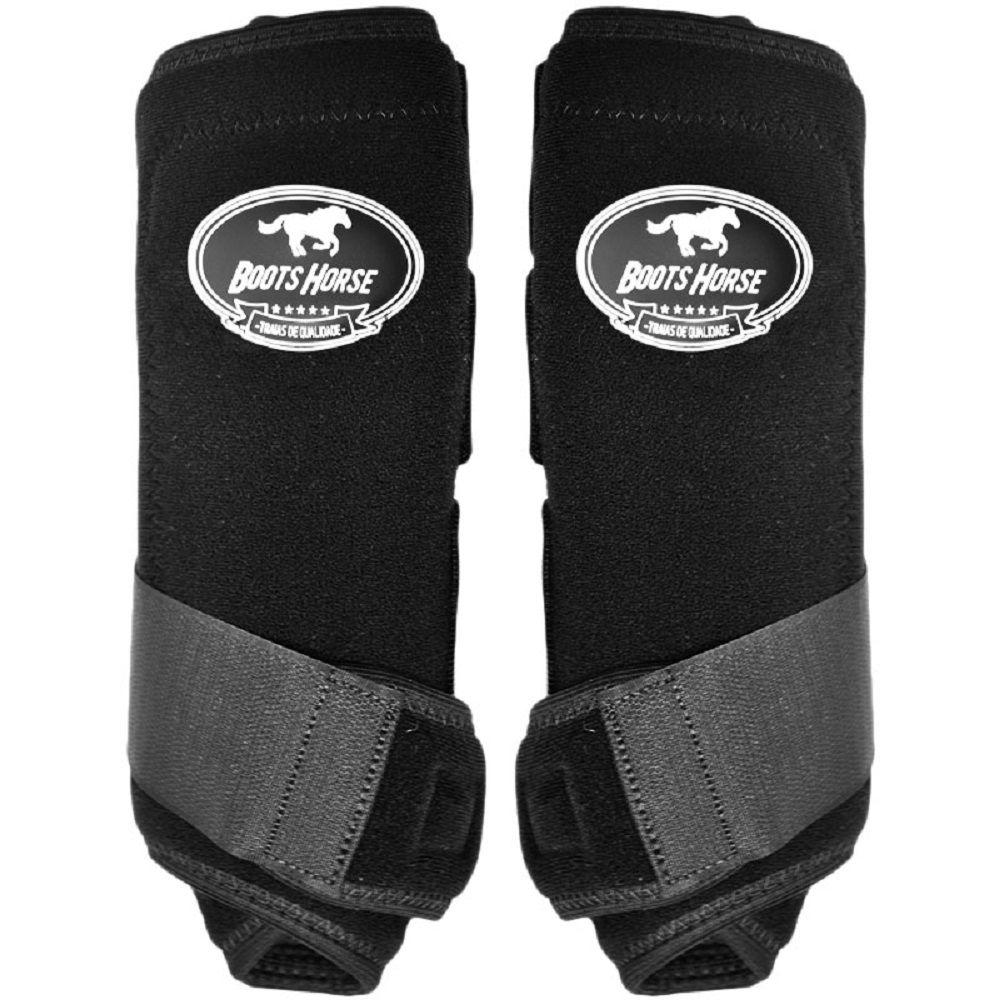 Caneleira e Cloche Boots Horse Ventrix Preto