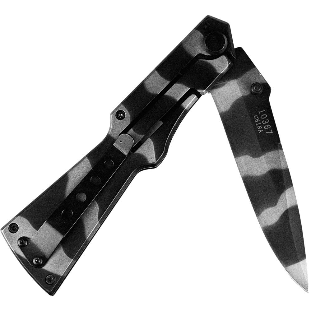 Canivete Importado Lâmina Lisa Camuflado Militar